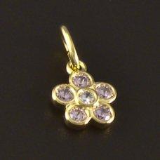 Goldene Kinderanhänger Blume 585/1000