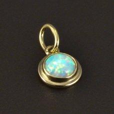 Kleiner Anhänger mit weißem Opal