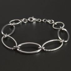 Silberarmband rhodiniert