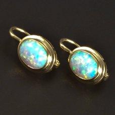 goldene Ohrringe Opal