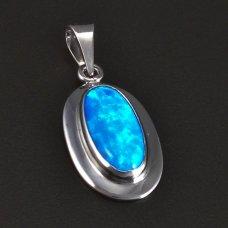 Silberanhänger Opal