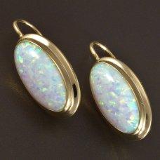 Goldohrringe Opal