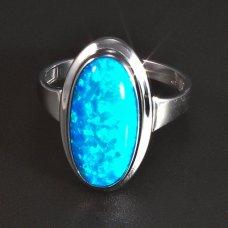 Silberring Opal