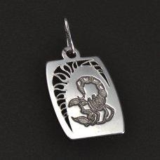 Scorpion-Weißgoldanhänger