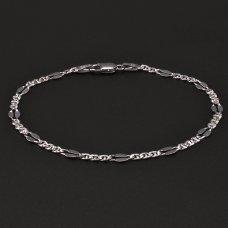 silberne rhodinierte Armband 925