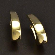 Modernee glänzende Ohrringe aus Gelbgold  585