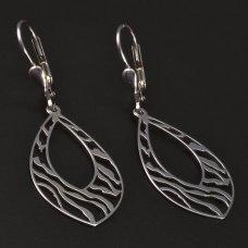 Silber-Ohrhänger-Damenverschluß