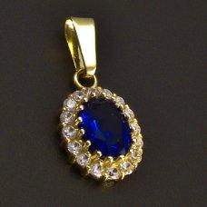 Goldene Ohrringe Saphir