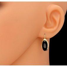 Gold Ohrringe mit schwarzem Onyx