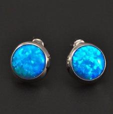 Opalohrringe mit blauem Opal