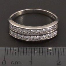 Weißgold Ring mit Zirkonia