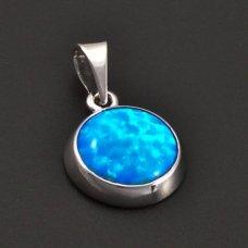 Silberanhänger mit einem blauen Opal