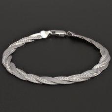Zopf-Armband aus Silber 925