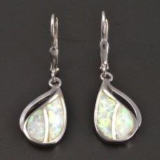 Opalohrhänger-Silber