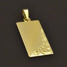 goldener Anhänger  Platte