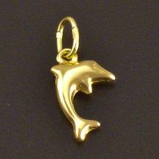 Goldanhänger Delphin