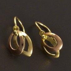 Zweifarbige goldene Ohrringe