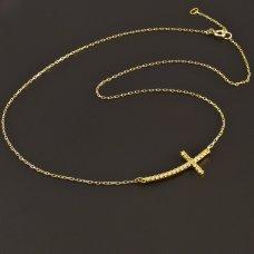 Gold-Kette-Kreuz