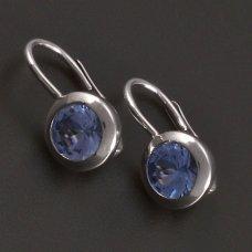 Silber-Ohrringe-Aquamarin