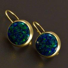 Ohrringe mit grünem Opalen