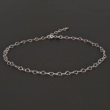 Fußkette-Herzchen-Silber925
