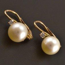 Rotgold Ohrringe Brillante Perle