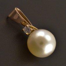 Rotgoldanhänger Brillante Perle