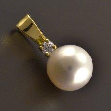 Goldanhänger Brillante Perle