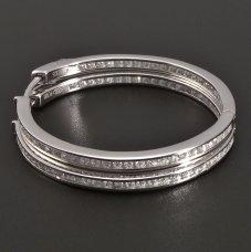 Silber-Creolen-Durchschnitt 33mm