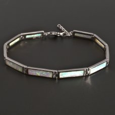 Silber-Armband-Opal