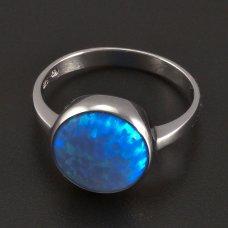Silberring große Opal