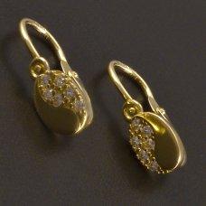 Goldene Kinder Ohrringe