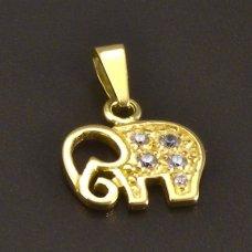 goldener Anhänger Elefant