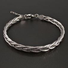 Silber-Zopfarmband