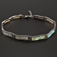 Silberarmband-Opal