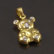 goldene anhänger  Teddybär