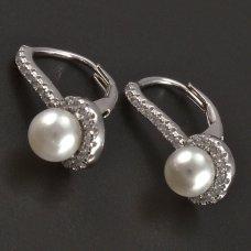 Zuchtperel-Silber-Ohrringe