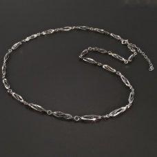 Weißgold-Collier 585