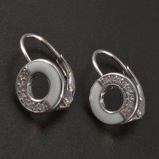Silber-Ohrringe-Emaille