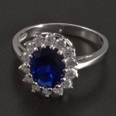 Weißgold-Ring-Saphir
