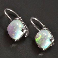 Silberohrringe mit Opal