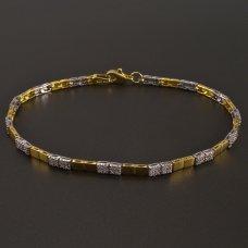 Goldarmband gelb-weißgold-Zirkonia