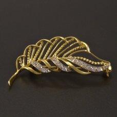 Goldene Brosche
