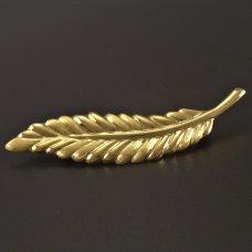 Goldene Brosche Blatt