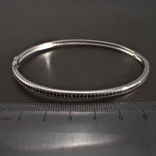 Silber-Armband-schwarz Emaille
