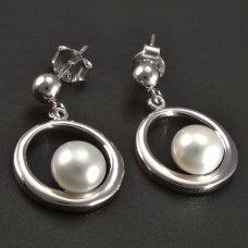 Zuchtperel-Ohrringe-Silber