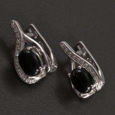Silber-Ohrringe-Onyx