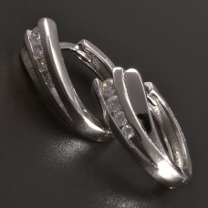 Silberne Ohrringe-kreisform