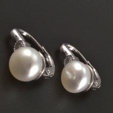 Silber-Ohrringe-Zuchtperel
