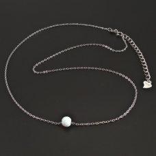 Silber-Kette mit Opalkugel